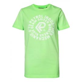 Petrol: T-shirt neongroen met opdruk B-SS-TSR670