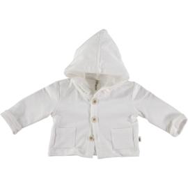 Petit Indi: Jacket Capuchon - Wit