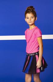 B.Nosy: Meisjes Jurkje Met Plissé Rok  - Roze