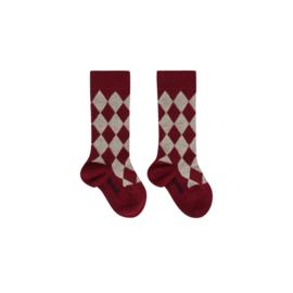 Imps&Elfs: Sokken ruit - rood - 4170100