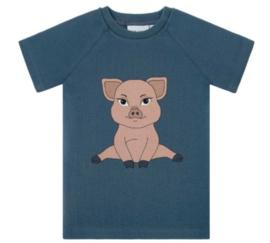 Dear Sophie: Piggie - blue rib t-shirt