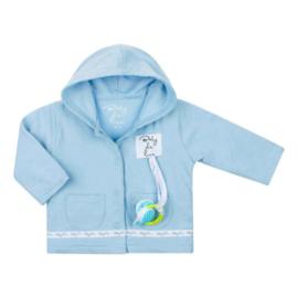 Baby deLuxe: Vestje katoen met speenkoord blauw - BDL10