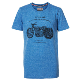 Petrol: T-shirt motor - Blauw