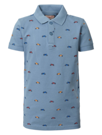Petrol: polo all over print motorcycle /light blue B-SS19-POL924