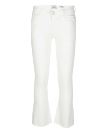 Indian Blue Jeans: Girls -Lola Cropped Flare Fit - White Denim