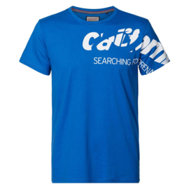 Petrol: T-shirt California - Blauw