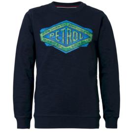 Petrol: Sweater blauw