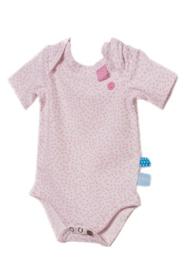 Snooze baby: girls romper pink dot