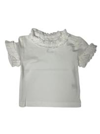 BabydeLuxe: T-Shirt Ruffles - White