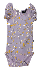 House of Jamie: Meisjes Ruffled Bodysuit - Floral-Dusty Lilac