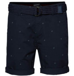 Petrol: Shorts - donkerblauw - all over miniprint
