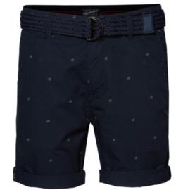 Petrol: Shorts - donkerblauw - all over miniprint