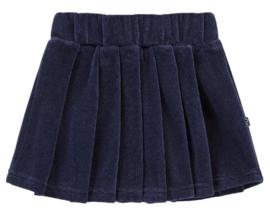 House of Jamie: Pleated skirt - Midnight Velvet Blue