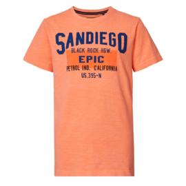 Petrol: T-shirt San Diego  - oranje
