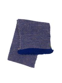 Imps&Elfs: Sjaal blauw/licht roze gebreid - 3160043