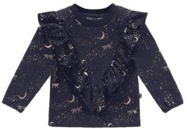 House of Jamie: Front Ruffled Sweater - Stargazer