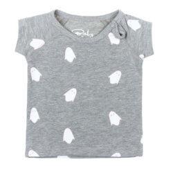 Baby Deluxe t-shirt grijs met wit-roze spookjes