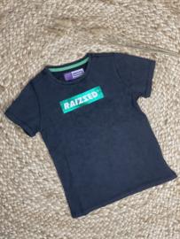 Raizzed: T-shirt met logo - grijs/zwart