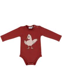 Dear Sophie: Chicken Bodysuit Red