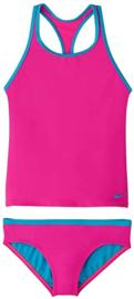 Nike: Tankini Blauw/Roze