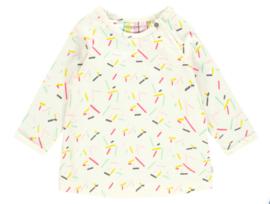 Noppies: Dress ls Pacifica aop - Blanc de Blanc