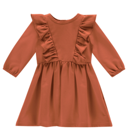 House of Jamie: Front Ruffled Dress Rust