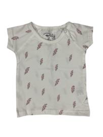 Baby de Luxe: T-shirt bliksem wit/roze
