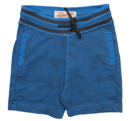 Petrol: Shorts blauw met all over print