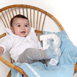 Baby de Luxe: Capuchonvest wit met rits