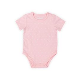 Jollein: Romper short sleeves hearts - soft pink