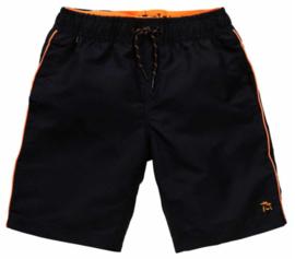 Petrol: Zwembroek - zwart met neon oranje