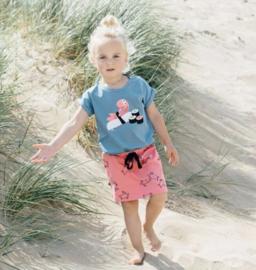 Noeser: Simone skirt turtle AOP coral