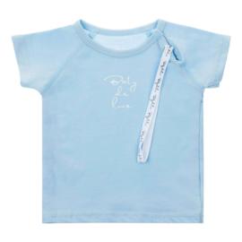 Baby de Luxe: blauw T-shirt met speenkoord