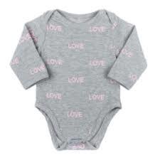 Baby de Luxe: Romper grijs love - BDL