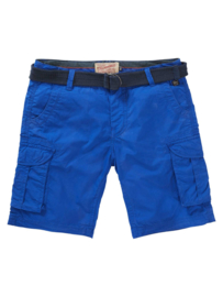 Petrol Jongens Korte Broek -Shorts met riem - Blauw