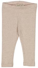 Wheat: Jersey leggings - rocky sand melange