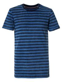 Petrol: T-shirt gestreept - Blauw