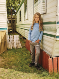 Mini Kid: Longsleeve Zakje - Blauw