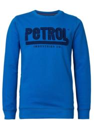 Petrol:  Sweater met opdruk - blauw