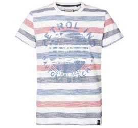 Petrol: Gestreept t-shirt
