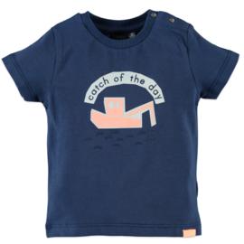Babyface: Jongens T-shirt Catch of the day - Dutch Blue