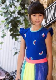 B.Nosy: Top met borduursels - princess blue