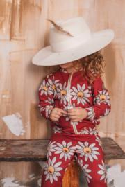 Dear Sophie: Red Daisy Bomber Jacket