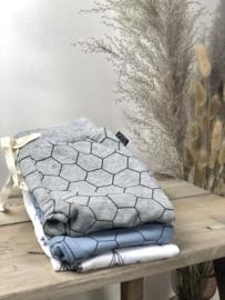 Tibot+Bodil: broekje Hexagon blue