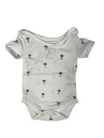 BabydeLuxe: Romper Palmtree - White/Grey