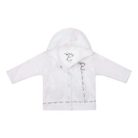 Baby deLuxe: Vestje katoen met speenkoord - wit BDL10