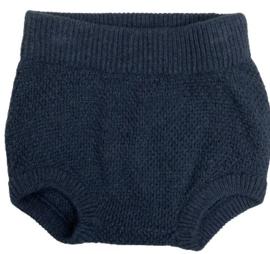 Wheat: Knit Nappy Pants Juno - Blue Melange