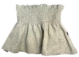 House of Jamie: Smocked Skater Skirt - Stone