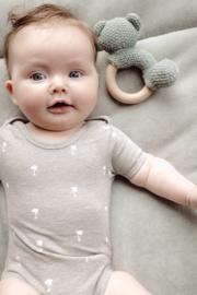 BabydeLuxe: Romper Palmtree - Grijs gemeleerd
