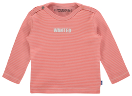 "Imps&Elfs: Long sleeve ""Wanted"" roze gestreept"